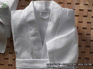 Áo choàng tắm khách sạn tổ ong ( Cotton)