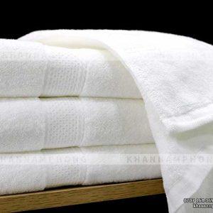 Khăn tắm màu trắng cotton